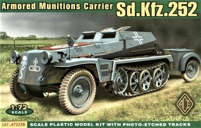 ACE   SD.KFZ.252 ARMOURED MUNITION CARRIER   1:72