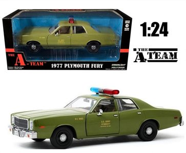 "GREENLIGHT | PLYMOUTH FURY 1977 ""US ARMY POLICE"" THE A-TEAM LIM. ED. 