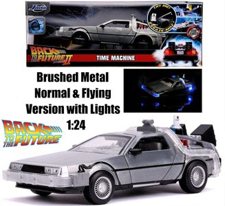 JADA | DELOREAN BACK TO THE FUTURE PART II TIME MACHINE WITH LIGHTS | 1:24