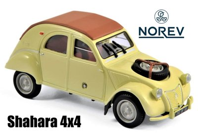 NOREV   CITROEN 2CV 4X4 SAHARA PANAMA YELLOW 1961   1:43