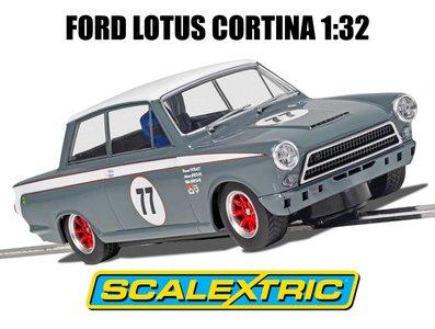 SCALEXTRIC | FORD LOTUS CORTINA JRT NR.77 HOWARD DONALD / ANDREW JORDAN (SLOTCAR) | 1:32