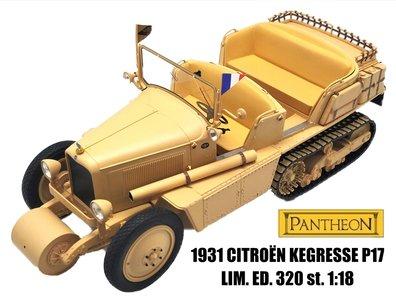 PANTHEON | CITROEN KEGRESSE P17 HALF TRACK 1931 LIM. ED. | 1:18