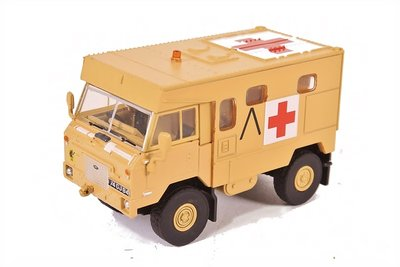 OXFORD DIECAST - LAND ROVER 101 FC AMBULANCE GULF WAR 'OPERATION GRANBY' 1991 - 1:76