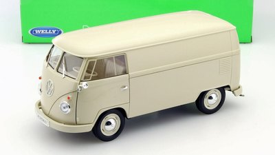 WELLY - VOLKSWAGEN T1 GESLOTEN BUS (PANEL VAN) 1963 CREME - 1:18