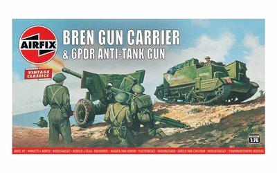 AIRFIX CLASSICS   BREN GUN CARRIER & GPDR ANTI-TANK GUN (VINTAGE CLASSICS)   1:76