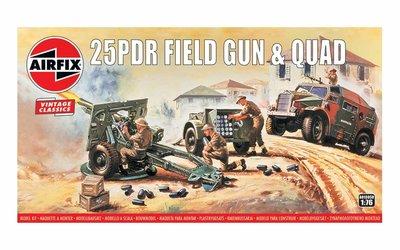 AIRFIX CLASSICS | 25PDR FIELD GUN & QUAD (VINTAGE CLASSICS) | 1:76