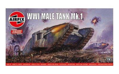 "AIRFIX CLASSICS   WWI ""MALE"" TANK MK.I (VINTAGE CLASSICS)   1:76"