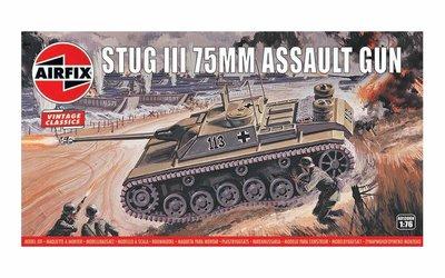 AIRFIX CLASSICS | STUG III 75MM ASSAULT GUN (VINTAGE CLASSICS) | 1:76