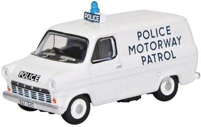OXFORD DIECAST   FORT TRANSIT MK1 'POLICE MOTORWAY PATROL' 1968   1:76