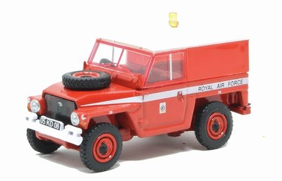 OXFORD DIECAST | LAND ROVER 1/2 TON LIGHTWEIGHT RAF RED ARROWS | 1:76