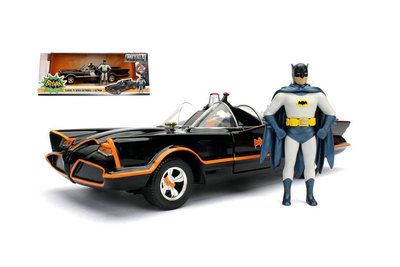 "JADA | BATMOBILE ""BATMAN CLASSIC TV SERIES 1966"" METAL WHIT FIGURES 