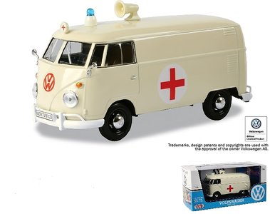 MOTORMAX | VOLKSWAGEN T1 GESLOTEN BUS 'AMBULANCE RED CROSS' 1962 | 1:24