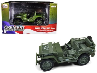 AUTO WORLD | WILLYS MB JEEP WWII (OLIVE DRAB) 1941 | 1:18