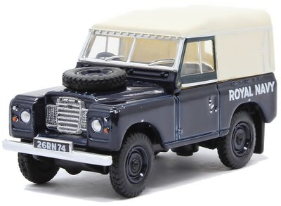 OXFORD DIECAST | LAND ROVER SERIES III SWB CANVAS 'ROYAL NAVY' 1972 | 1:76