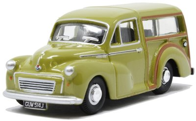 OXFORD DIECAST | MORRIS TRAVELLER LIMEFLOWER 1971 | 1:76