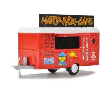 OXFORD DIECAST   HARD WOK CAFE 'MOBILE FOOD TRAILER'   1:76