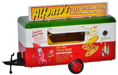 OXFORD DIECAST | ALFONSO'S 'MOBILE FOOD TRAILER' | 1:76