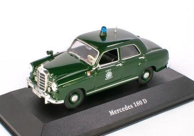 ATLAS | MERCEDES 180 D DUITSLAND 'POLICE CARS COLLECTION' 1953 | 1:43