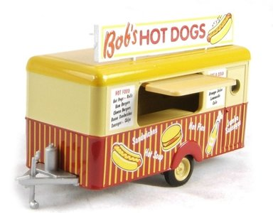 OXFORD DIECAST | BOB'S HOT DOGS 'MOBILE FOOD TRAILER' | 1:76