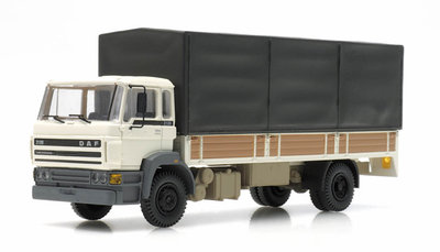ARTITEC | DAF KANTELCABINE 1987 OPEN BAK HUIF WIT (READY MADE) | 1:87