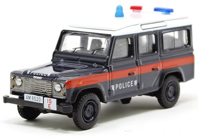 OXFORD DIECAST | LAND ROVER DEFENDER 110 LWB STATION 'HONG KONG POLICE' | 1:76