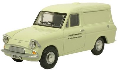 OXFORD DIECAST | FORD ANGLIA DELIVERY VAN 'LONDON TRANSPORT' 1962 | 1:43