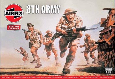AIRFIX CLASSICS | WWII BRITISH 8TH ARMY (VINTAGE CLASSICS) | 1:76