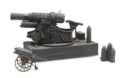 ARTITEC   SKODA 30,5 CM BELAGERUNGSMORSER M1916 WWII (READY MADE)   1:87