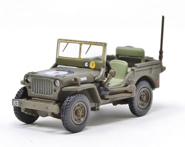 OXFORD DIECAST | WILLYS MB JEEP RAF 83 GRP.2ND TACTICAL AF 1944/45 | 1:76