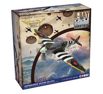 CORGI | SUPERMARINE SPITFIRE XIV RM740 No.322 DUTCH SQUARDRON D-DAY 1944 LIM. ED. | 1:72