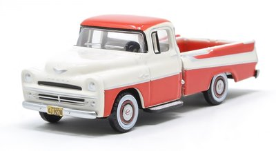 OXFORD DIECAST | DODGE D100 SWEPTSIDE PICK-UP (CORAL/GLACIE) 1957 | 1:87