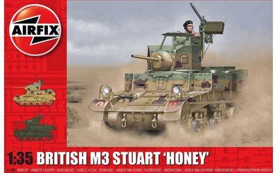 AIRFIX | BRITISH M3 STUART 'HONEY' (PLASTIC BOUWPAKKET)  | 1:35