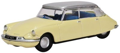 OXFORD DIECAST | CITROEN DS19 (JONGUIL YELLOW/SILVER) | 1:76