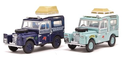 OXFORD DIECAST | LAND ROVER 2 SET FIRST OVERLAND 'LONDON-SINGAPORE' | 1:76