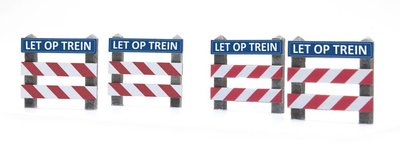 "ARTITEC | OVERWEGHEKKEN ""LET OP TREIN"" (READY-MADE) 