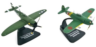 ATLAS/OXFORD | REPUBLIC P-47D THUNDERBOLT & KAWANANISHI N1K2 'DUELLING FIGHTERS' 1945 | 1:72