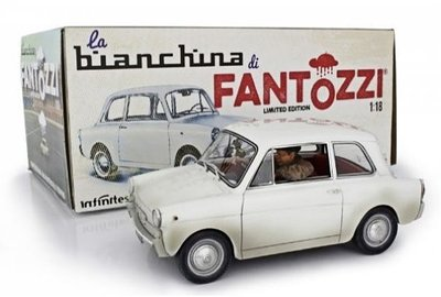 LAUDORACING | AUTOBIANCHI BIANCHINA 'FANTOZZI' MET FIGUUR LIM. ED. 1975 | 1:18