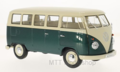 WELLY-VOLKSWAGEN-T1-BUS-(WINDOW-VAN)-1963-GROEN-WIT-1:18